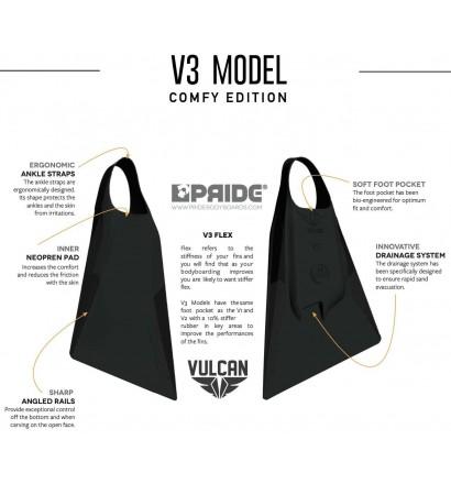 Vinnen bodyboard Pride Vulcan V3 Zwart Comfy Edition