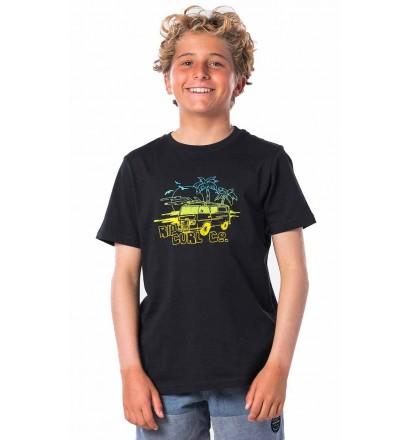 T-Shirt Rip Curl Coche Black