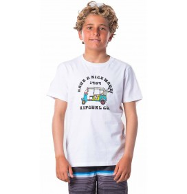 Camiseta Rip Curl Coche Optical White