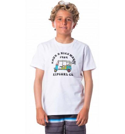 Rip Curl Coche Optical White T-Shirt