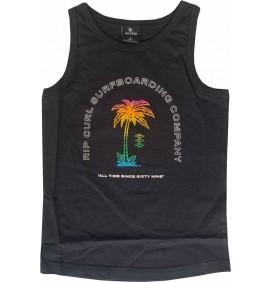 T-Shirt Rip Curl Multi Prints Tank Black