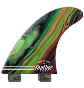 Quilhas de surf Feather Fins Performance Twin