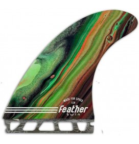 Chiglie di surf Feather Fins Performance Twin Single Tab