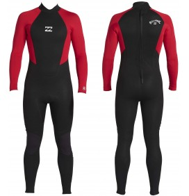 Junior Wetsuit Billabong 4/3mm Intruder flatlock