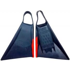 Pé de pato Bodyboard Viper Delta 2.0 Cinza/Vermelho