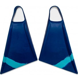 Stealth S2 Pinnacle Bodyboard Fins Navy/Ice Blue