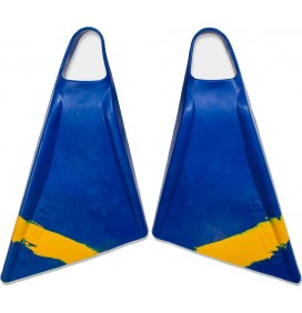 Stealth S2 Pinnacle Bodyboard Fins Blue/Sun Gold