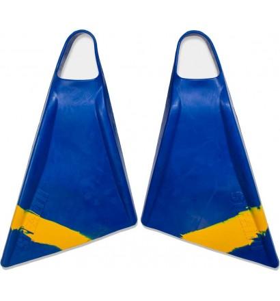 Stealth S2 Pinnacle Bodyboard Fins Blue/Sun Gold