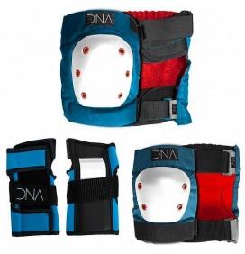 Set de protecciones codos + rodillas DNA Kids