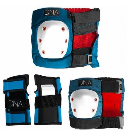 Set de protecciones codos + rodillas DNA Kids