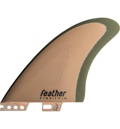 Finnen surf Feather Fins Twin Modern Keel Click Tab
