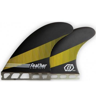 Ailerons de surf Feather Fins Quad Single Tab