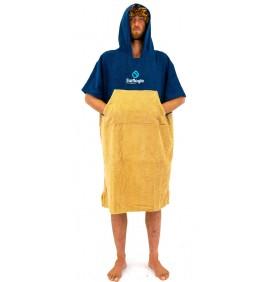 Poncho handdoek Surf Logic Navy & Beige