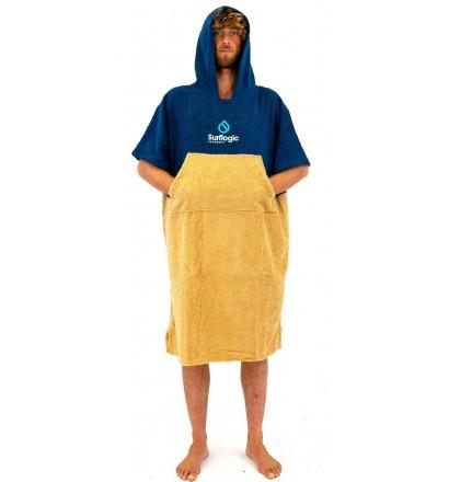 Poncho handtuch Surf Logic Navy & Beige