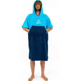 Poncho asciugamano Surf Logic Cyan & Navy
