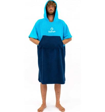 Poncho handdoek Surf Logic Cyan & Navy