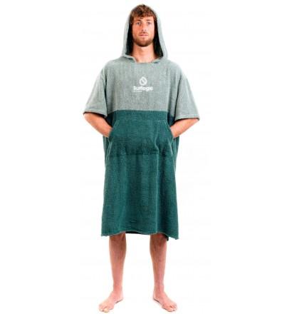 Poncho handdoek Surf Logic Green & Olive