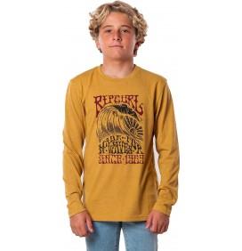 T-shirt Rip Curl Big Sky maniche lunghe