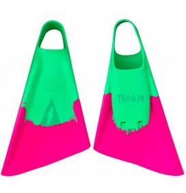 Pinne bodyboard Thrash Verde / rosa