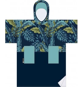 Poncho handtuch Madness Blue Leaf