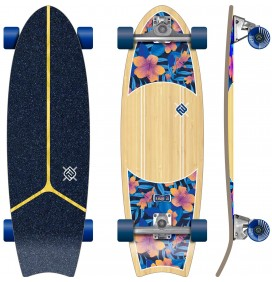 Surfskate Flying Wheels Kauai Hibiscus 31''