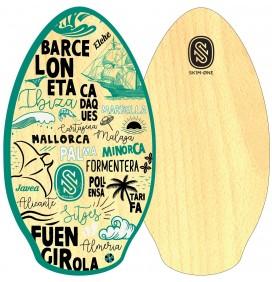 Tabla de skimboard Skim One Wood 41'' Mediterranee