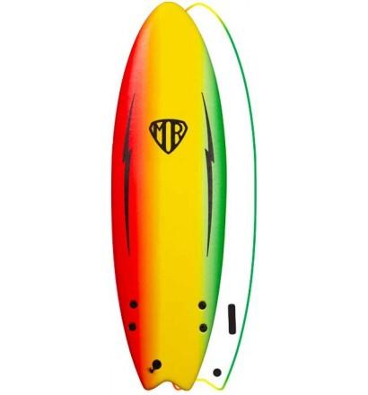 Prancha de surf softboard Ocean & Earth MR Spray Ezi-Rider Twin Fin