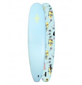 Surfbrett softboard Ocean & Earth Brains EZI-Rider Mini-Malibu