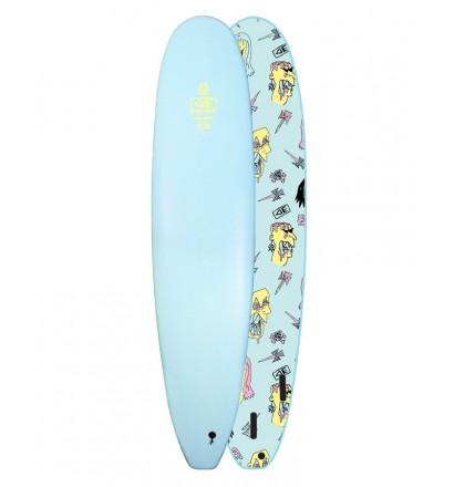 Prancha de surf softboard Ocean & Earth Brains EZI-Rider Mini-Malibu