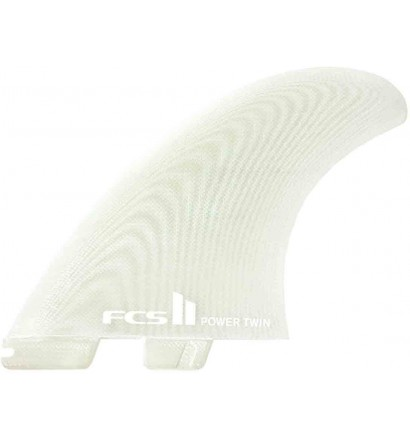 Quilhas surf twin fins FCSII Power Twin PG + Stabilizer