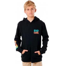 Tecido polar Rip Curl Oceanz Boy com capuz