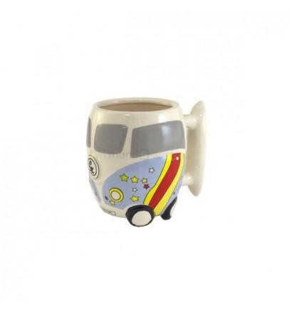 Taza de ceramica Furgoneta Hippie