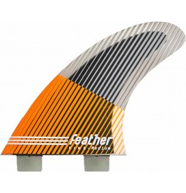 Ailerons de surf Feather Fins Ultralight Black Hexa Core