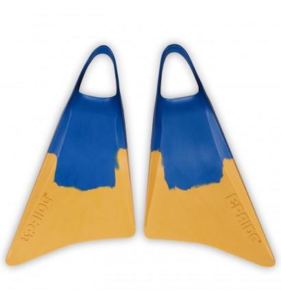 Aletas Bodyboard Pride Vulcan V1 Amarillo/Azul