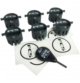 Jeu de 6 plugs d'aillerons FCS X2