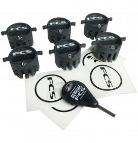 Set of 6 Plug of fins FCS X2